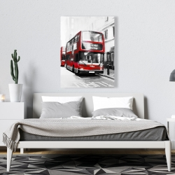 Canvas 36 x 48 - Red bus londoner