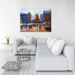 Canvas 36 x 48 - Street scene to moulin rouge