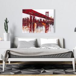 Canvas 36 x 48 - Red bridge