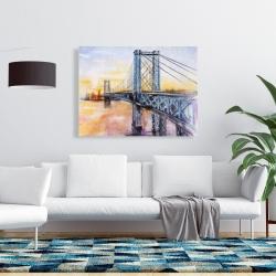 Canvas 36 x 48 - Abstract brooklyn bridge