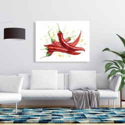 Canvas 36 x 48 - Red hot peppers