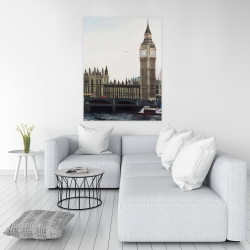 Canvas 36 x 48 - Big ben clock elizabeth tower in london