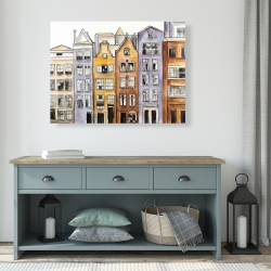 Canvas 36 x 48 - Amsterdam houses hotel