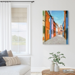 Canvas 36 x 48 - Colorful houses in italy