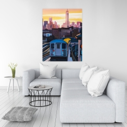 Canvas 36 x 48 - Sunset over the subway in new-york