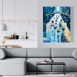 Canvas 36 x 48 - Rainy streets of new york