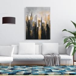 Canvas 36 x 48 - Abstract gold skyscraper