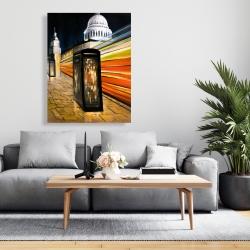Canvas 36 x 48 - Fast london bus
