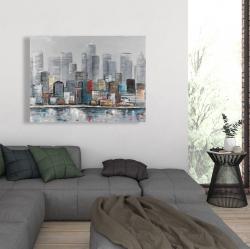 Canvas 36 x 48 - Abstract city skyline