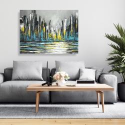 Canvas 36 x 48 - Abstract blue skyline