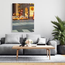 Canvas 36 x 48 - Blurred view of new york