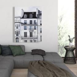 Canvas 36 x 48 - Buildings along the seine river