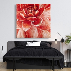 Canvas 48 x 48 - Red chrysanthemum