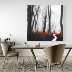 Canvas 48 x 48 - Mysterious forest with stream