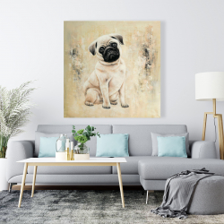 Canvas 48 x 48 - Small pug