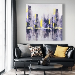 Canvas 48 x 48 - Abstract purple city