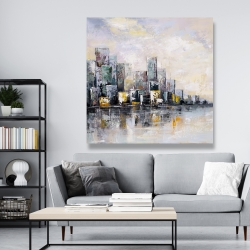 Canvas 48 x 48 - Abstract cityscape in the morning