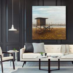 Canvas 48 x 48 - Newport beach lifeguard tower