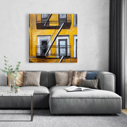 Canvas 48 x 48 - Building old fire escape