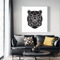 Canvas 48 x 48 - Geometric bear head