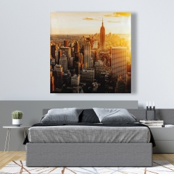 Canvas 48 x 48 - New york city at sunset