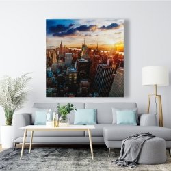 Canvas 48 x 48 - City of new york by dawn