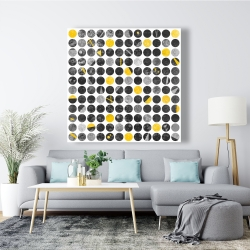 Canvas 48 x 48 - Abstract grunge circles