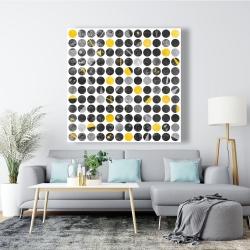 Canvas 48 x 48 - Abstract grunge circles