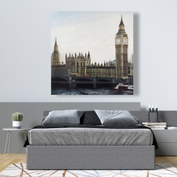 Canvas 48 x 48 - Big ben clock elizabeth tower in london