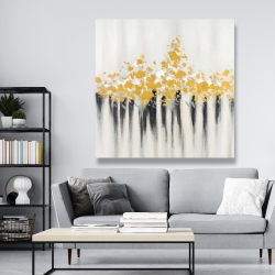 Canvas 48 x 48 - Abstract gold flowers