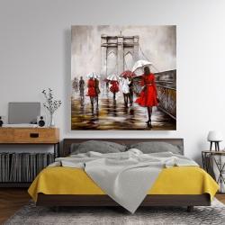 Canvas 48 x 48 - Walk on the brooklyn bridge