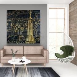 Canvas 48 x 48 - Gold city blue print