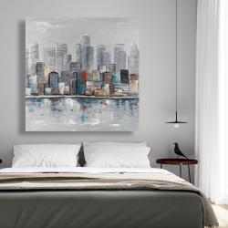 Canvas 48 x 48 - Abstract city skyline