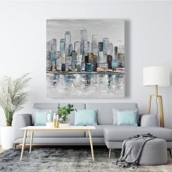 Canvas 48 x 48 - Abstract urban skyline