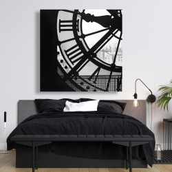 Canvas 48 x 48 - Clock at the orsay museum