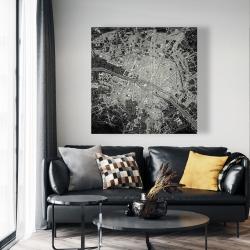 Canvas 48 x 48 - Airplane satellite view