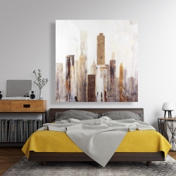 Canvas 48 x 48 - Abstract earthy tones city
