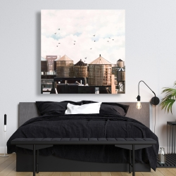 Canvas 48 x 48 - Water towers