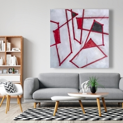 Canvas 48 x 48 - Red outlines shapes
