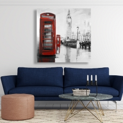 Canvas 48 x 48 - Red phonebooth with the big ben