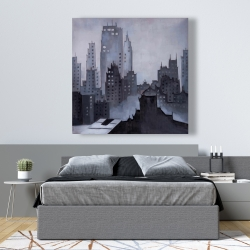 Canvas 48 x 48 - Illustrative gray city