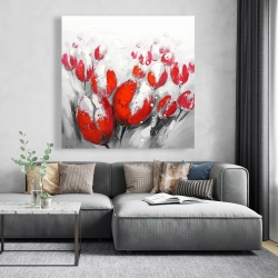 Canvas 48 x 48 - Red tulips