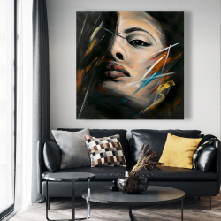 Canvas 48 x 48 - Abstract woman portrait
