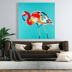 Canvas 48 x 48 - Abstract flamingo