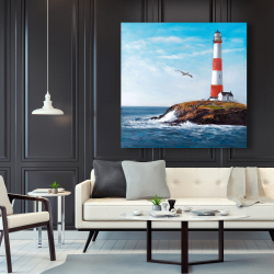 Canvas 48 x 48 - Lighthouse at the edge of the sea