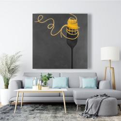 Canvas 48 x 48 - Spaghetti pasta around a fork