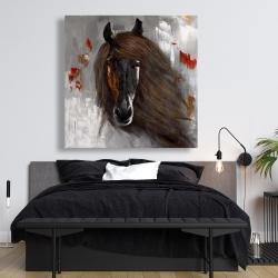 Canvas 48 x 48 - Proud brown horse