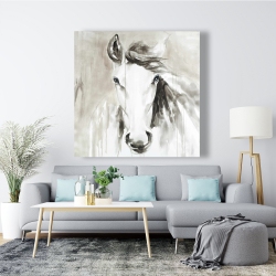 Canvas 48 x 48 - Beautiful abstract horse
