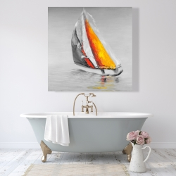 Canvas 48 x 48 - Two colors sailing boat
