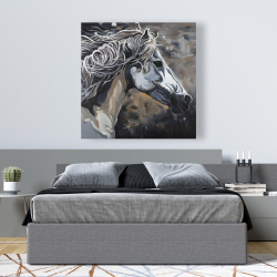 Canvas 48 x 48 - Side of a wild horse